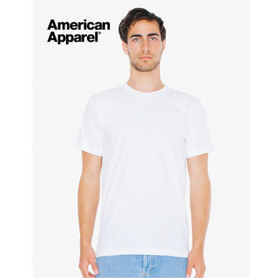 American Apparel Unisex Fine Jersey Short Sleeve Tee White